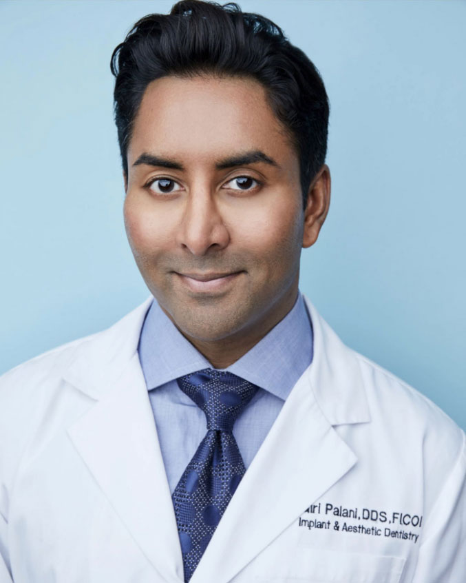 Image of Dentist Dr. Giri Palani, dental implant expert.
